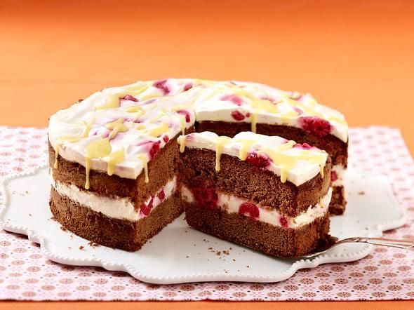 Himbeer-Eierlikör-Torte Rezept