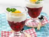 Himbeer-Kirsch-Grütze mit Joghurt Rezept