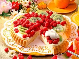 Himbeer-Kiwi-Torte Rezept