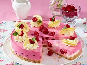 Himbeer-Zitronen-Kuchen mit Keksboden Rezept