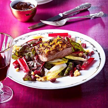 Hirsch-Steaks mit Orange und Walnuss Rezept