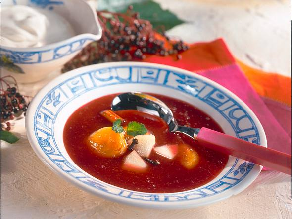 Holunder-Apfel-Suppe Rezept