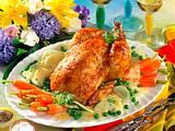 Honig-Senf-Hähnchen mit jungem Gemüse Rezept