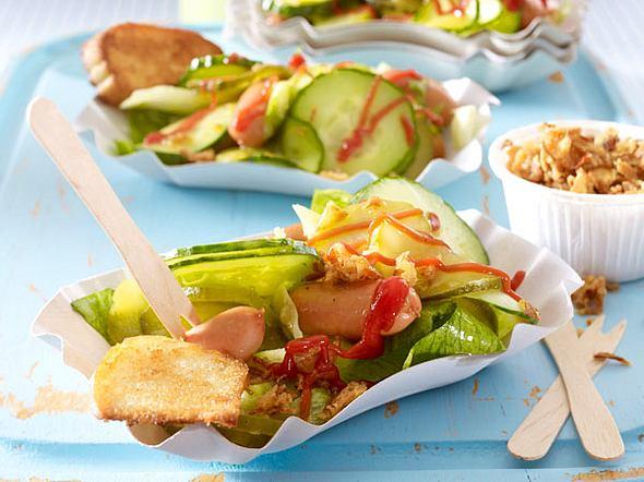 Hot-Dog-Salat Rezept