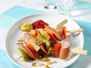 Hot Dog-Spieße (kalorienreduziert) Rezept