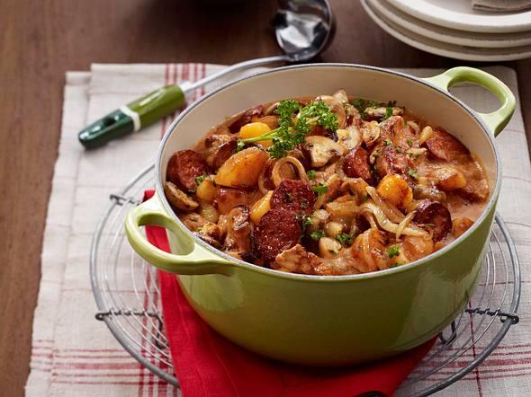 Hubertustopf mit Champignons und Chorizo Rezept