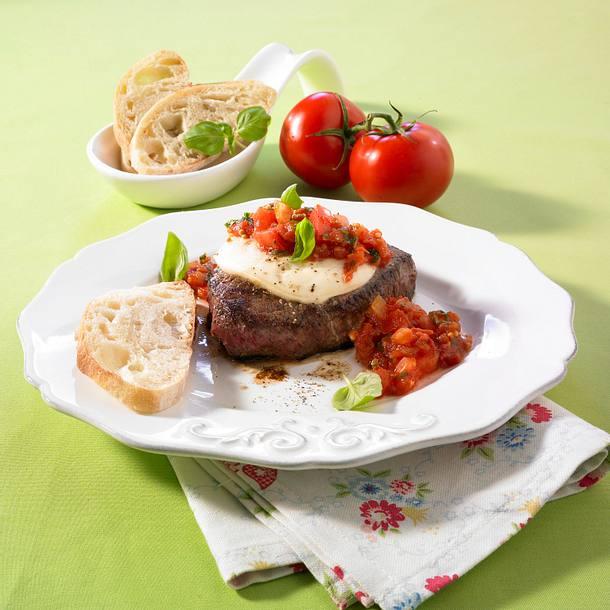 h ftsteak mit tomaten chutney rezept lecker. Black Bedroom Furniture Sets. Home Design Ideas