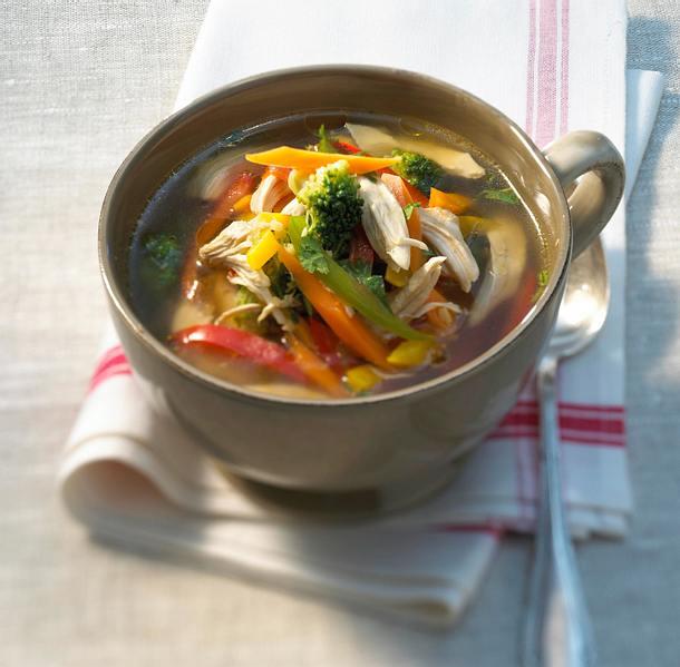 Hühnersuppe mit Ingwer und Asia-Gemüse Rezept
