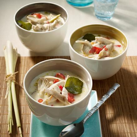 Hühnersuppe mit Zitronengras (Tom Khaa Gai) Rezept