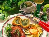Huftsteak mit Zucchiniblüte Rezept