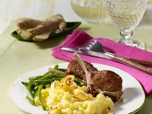 Ingwer-Kartoffel-Püree mit Lammstielkoteletts Rezept