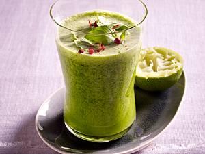Ingwer-Minze-Kokosmilch-Smoothie Rezept