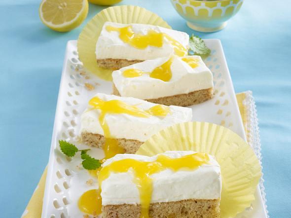 Ingwer-Schnitten mit Zitronensahne und Lemon Curd Rezept
