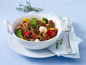 Italienische Hack-Gemüsepfanne Rezept