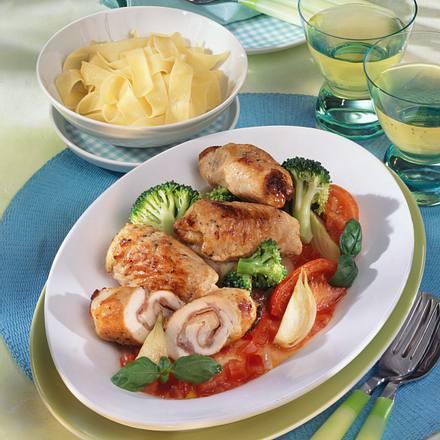 Italienische Putenröllchen mit Broccoli Rezept