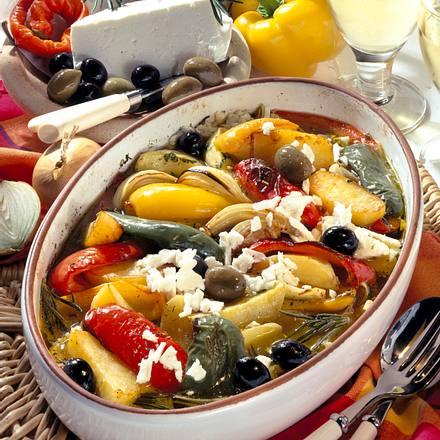 Italienischer Kartoffel-Gemüse-Auflauf Rezept