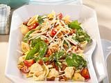 Italienischer Nudelsalat mit Spinat Rezept