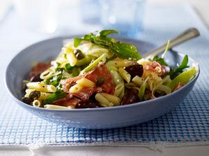 Italienischer Penne-Salat mit Fenchelsalami Rezept