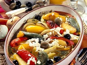 Italienisches Ofengemüse mit Feta Rezept