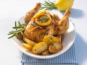 Italienisches Zitronenhähnchen mit Rosmarinkartoffeln Rezept