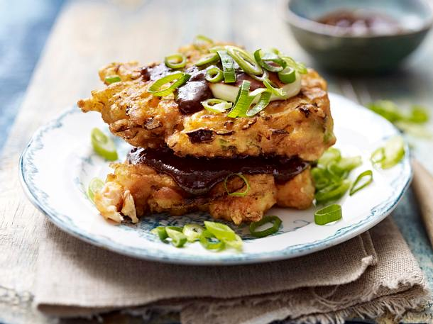 Japanische Lachs-Pancakes Rezept