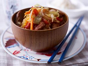 Japanisches Yasaiitame (gebratenes Gemüse) Rezept