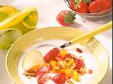 Joghurt mit Früchten und Knusperflocken (Diabetiker) Rezept