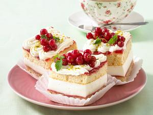 Joghurt-Schnitten mit Johannisbeeren (Diabetiker) Rezept