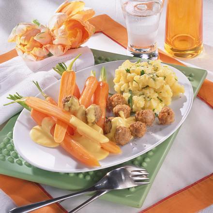 Junge Möhren mit Senf-Hollandaise Rezept