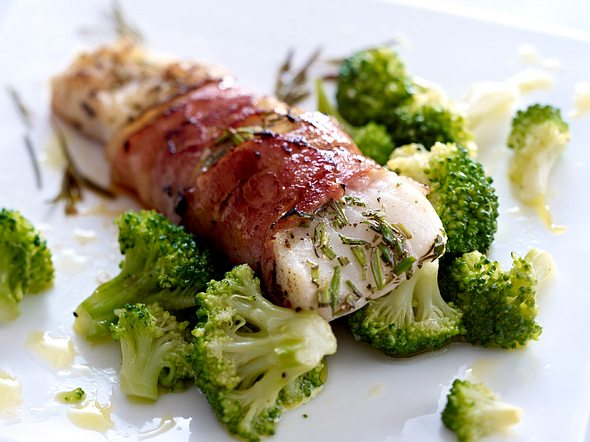 Kabeljau-Schinken-Päckchen mit Brokkoli Rezept