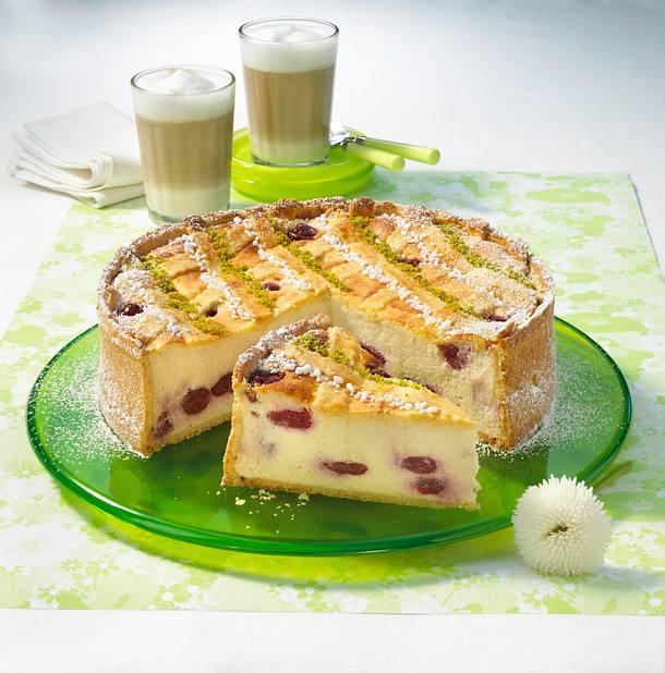 Käse-Kirschkuchen Rezept