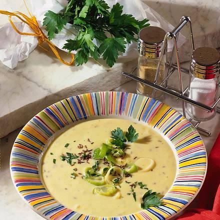 Käse-Porree-Cremesuppe Rezept