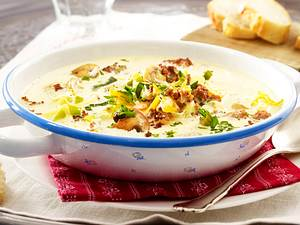 Käse-Porree-Suppe mit Hack Rezept