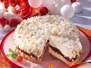Käse-Sahne-Torte mit Kirschen Rezept