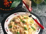 Käse-Tortelloni mit Zitronen-Sahne-Soße Rezept