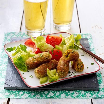 Käsekroketten zu Salat Rezept