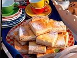Käsekuchen mit Apfelkompott Rezept