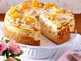 Käsekuchen mit Aprikosen und Baiser Rezept
