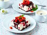 Käsekuchen-Schnitten mit Erdbeeren Rezept