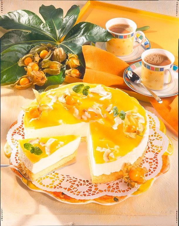 Käsesahne-Torte mit Maracuja Rezept