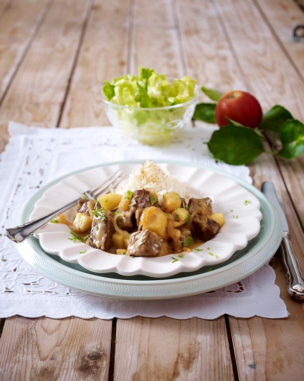 Kalbs-Apfel-Gulasch Rezept