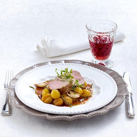Kalbsfilet Mignon mit Knoblauch und Thymian gebraten (Lea Linster) Rezept