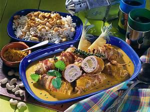 Kalbsröllchen mit Ananas und grünem Pfeffer in Curry-Soße Rezept