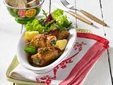 Kalbsröllchen mit Salat Rezept