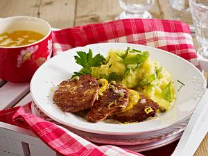 Kalbsschnitzel mit Kapern-Zitronensoße Rezept