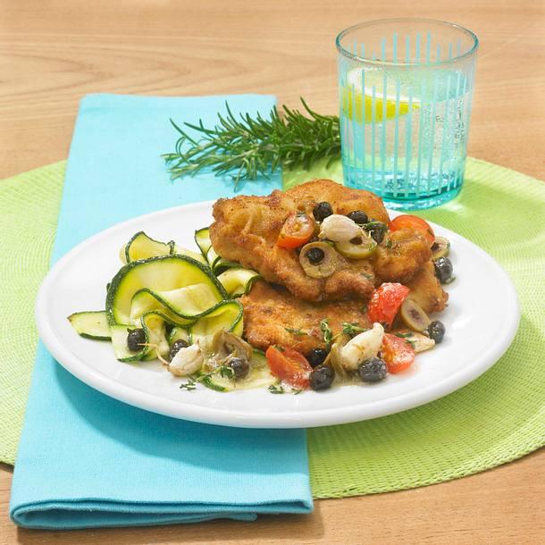 Kalbsschnitzel mit Olivenbutter Rezept
