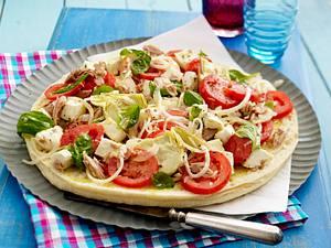 Kalte Fladenbrot-Pizzen Rezept