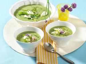 Kalte Kopfsalat-Basilikumsuppe Rezept
