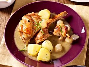 Kaninchen in Wacholder-Honig-Weißwein-Soße Rezept