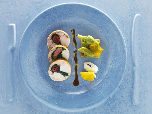 Kaninchenrücken mit Kräuterfüllung (Alain Ducasse) Rezept